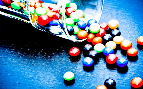 Abstrakte Farbspiele